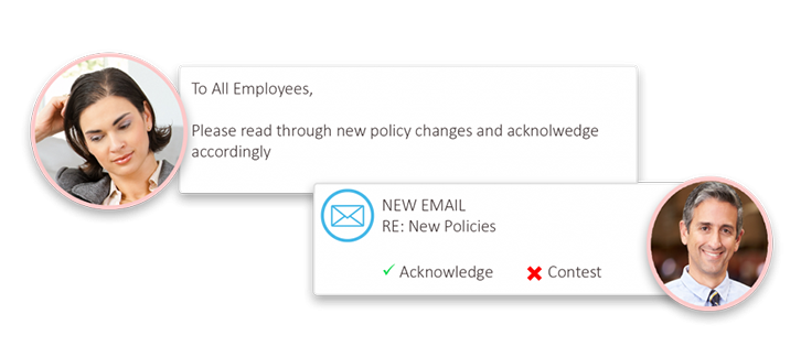 automated email notification employee compliance iso management