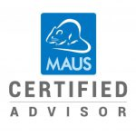 MAUS certified consultancy business logo